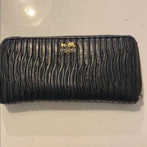 Black large coach wallet